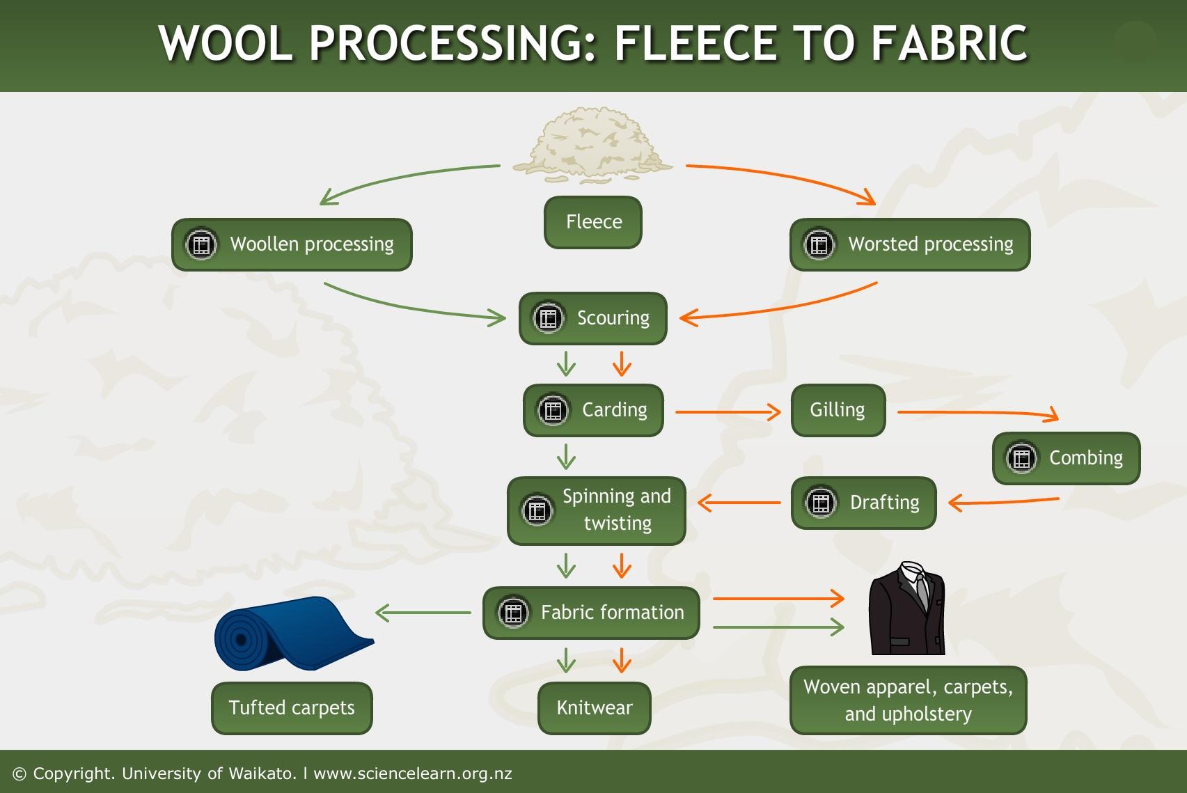Wool processing: fleece to fabric
