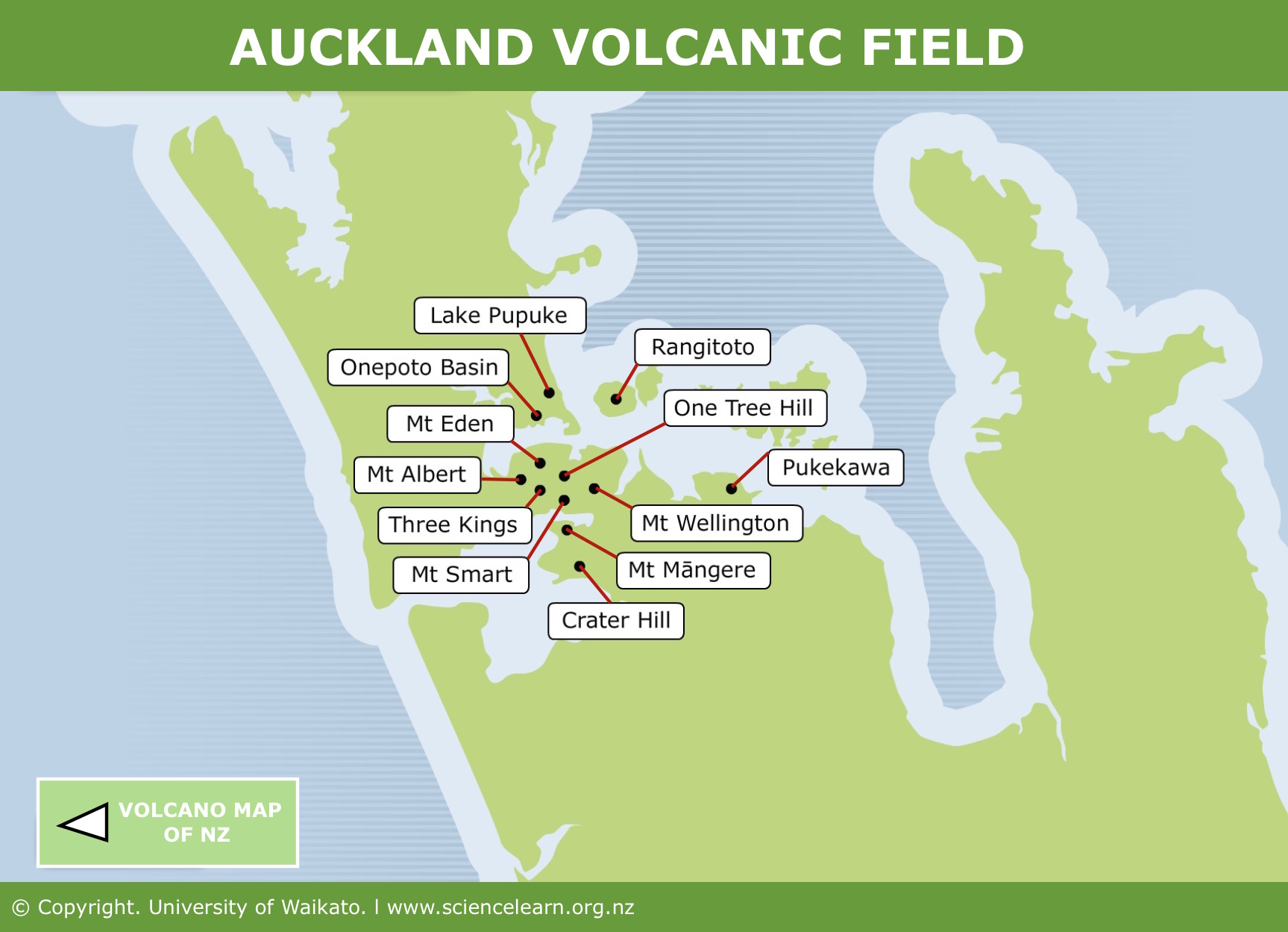 Interactive Map Of New Zealand.Auckland Volcanic Field Science Learning Hub