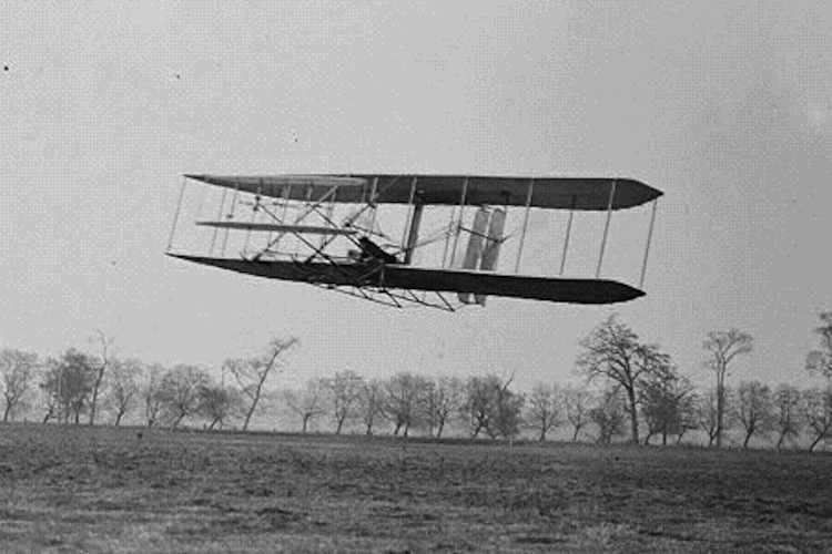 First Wright Brothers Flight in the wright brothers' plane — science learning hub