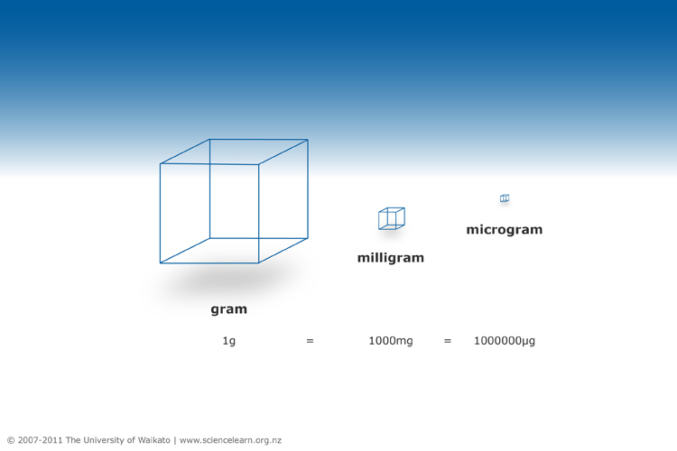 The Relationship Between A Gram Milligram And Microgram Science