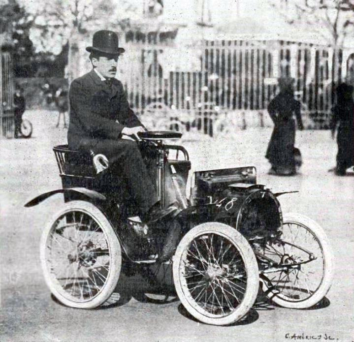Louis Renault Driving An Electrobat L His First Electric Car